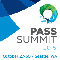I'm attending Pass Summit 2015